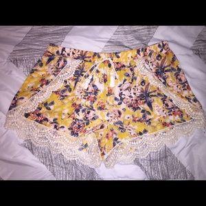 Xhilaration Soft Floral Shorts